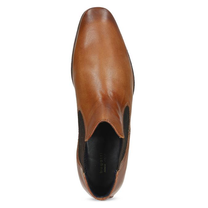 Hnědá pánská kožená Chelsea obuv bugatti, hnědá, 816-3014 - 17