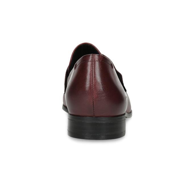 Dámské vínové kožené mokasíny bata, červená, 514-5601 - 15