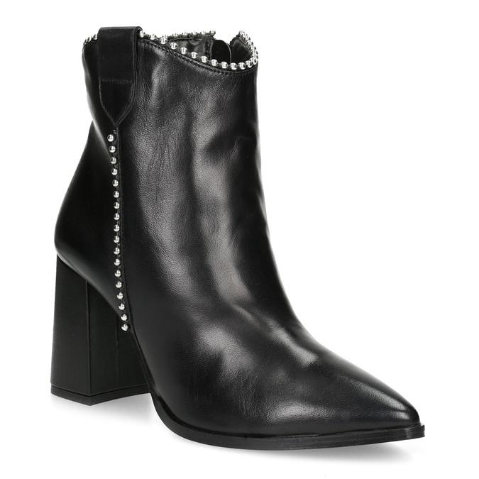 Dámská kožená obuv do špičky bata, černá, 796-6658 - 13