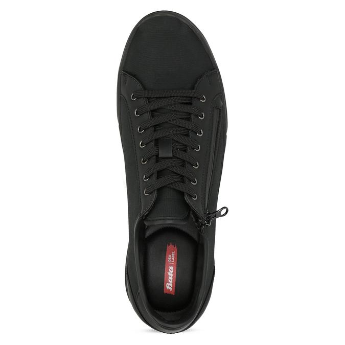 Pánské černé tenisky se zipem bata-red-label, černá, 841-6622 - 17