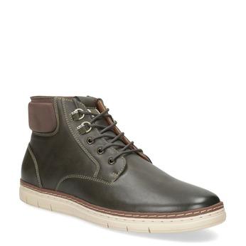 Pánská tmavě zelená kotníčková obuv bata-red-label, hnědá, 821-3602 - 13