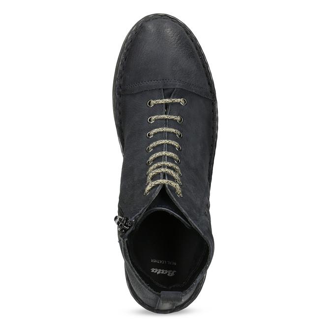 Kožená dámská kotníčková obuv bata, modrá, 596-9709 - 17
