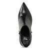 Kožená kotníčková obuv s kovovou aplikací bata, černá, 796-6659 - 17