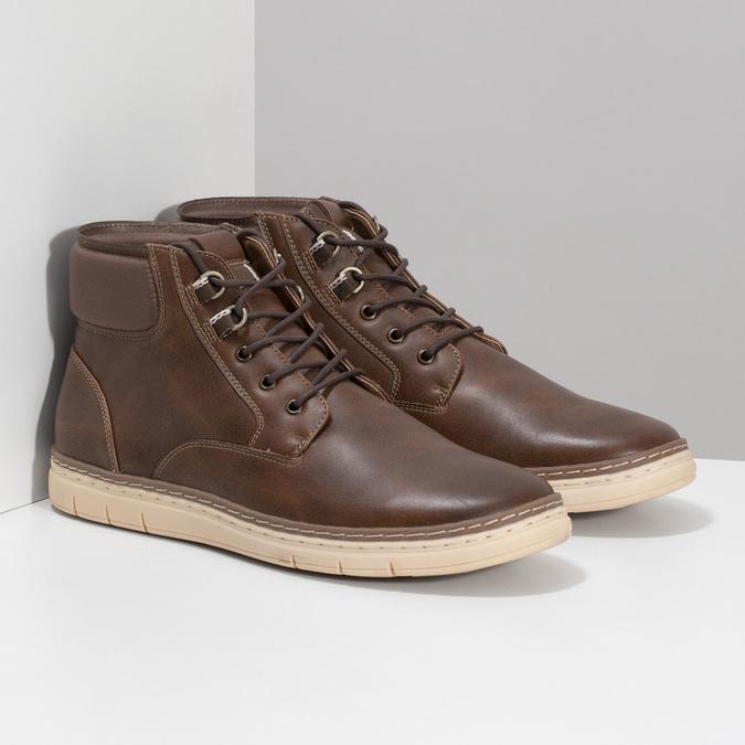 Pánská kotníčková obuv tmavě hnědá bata-red-label, hnědá, 821-4602 - 26