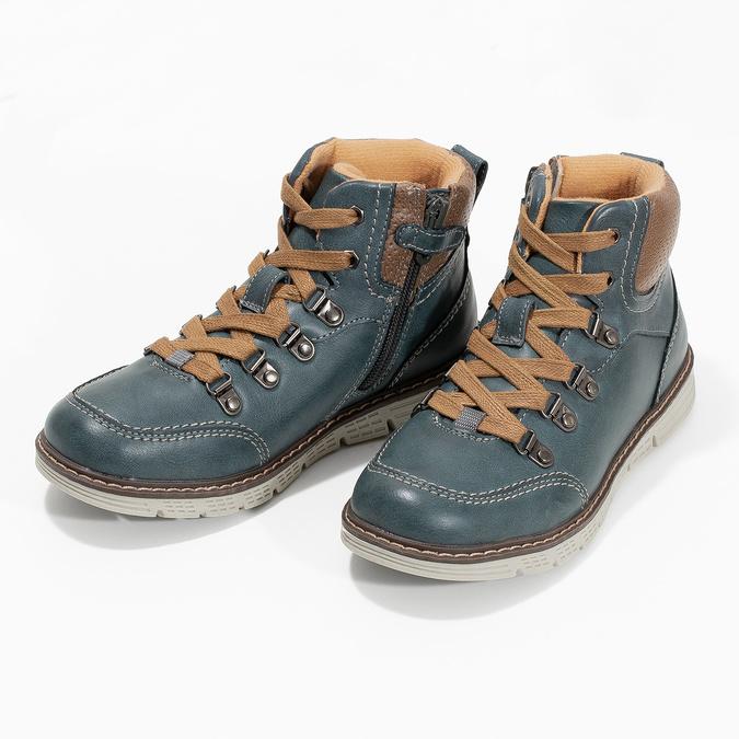 Modrá dětská kotníčková obuv mini-b, modrá, 311-9614 - 16