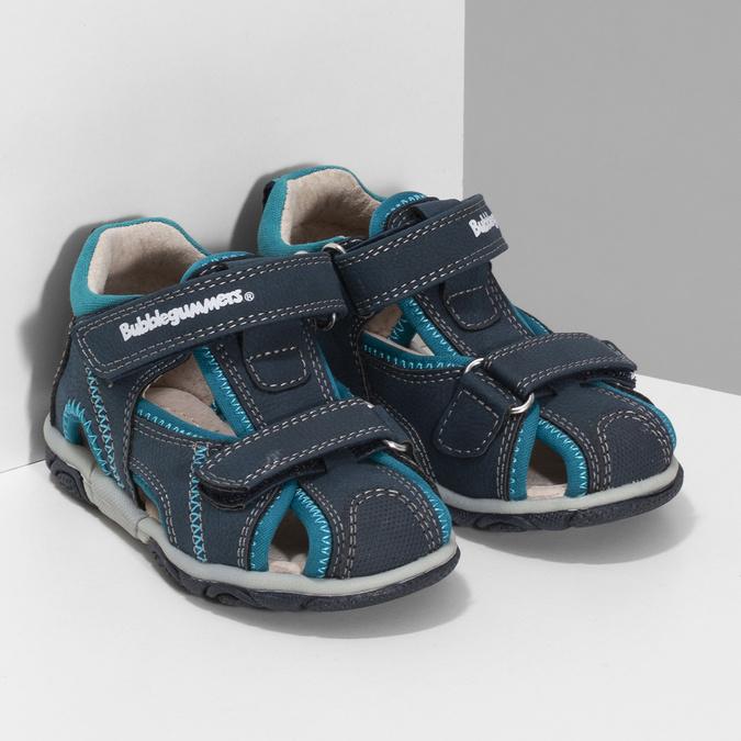 Modrá dětská zimní obuv se zateplením bubblegummers, modrá, 191-9616 - 26