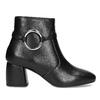 Kožená dámská kotníčková obuv bata, černá, 694-6665 - 19