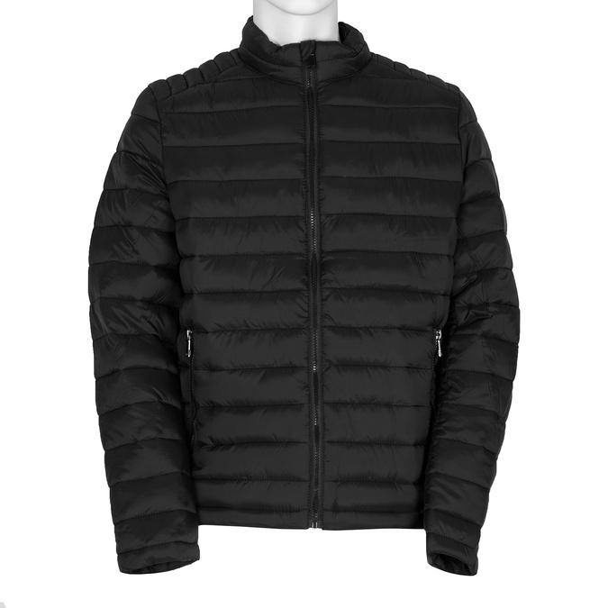 Pánská černá bunda s prošitím bata, černá, 979-6369 - 13