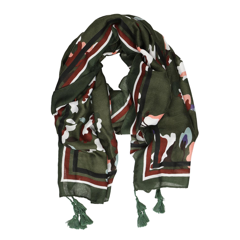 d31c2b0d3d2 Baťa Dámský šátek se vzorem a střapci - Šátky a šály