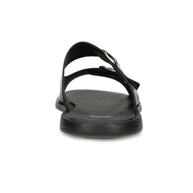 Pánské kožené nazouváky s přezkami bata, černá, 874-6602 - 15