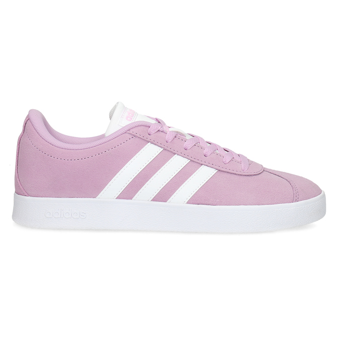 Dětské kožené tenisky růžové adidas, růžová, 403-5361 - 19
