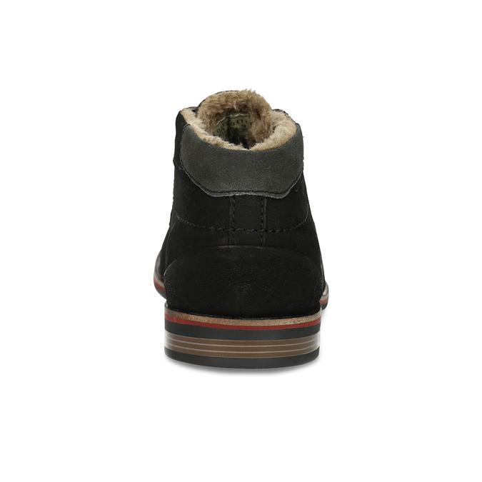 Zimní pánská kožená obuv černá bugatti, černá, 829-6049 - 15