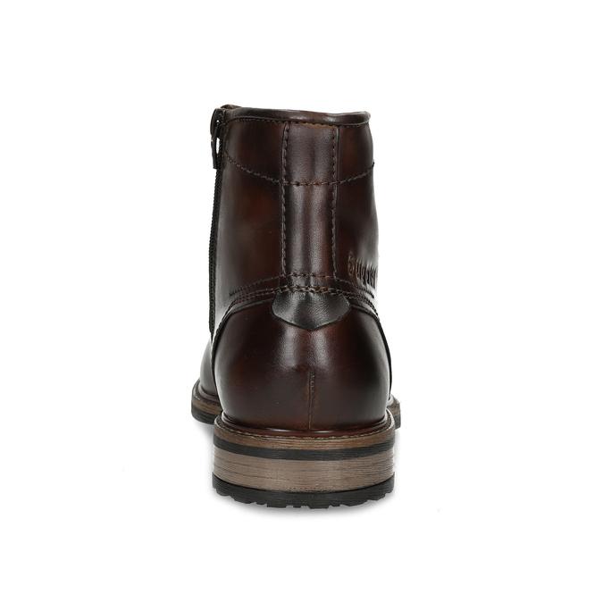 Zimní pánská kotníčková obuv kožená bugatti, hnědá, 896-3023 - 15