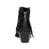 Kožená kotníčková obuv ve western stylu bata, černá, 696-6663 - 15