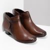 Dámská kožená kotníčková obuv hnědá gabor, hnědá, 616-3001 - 26