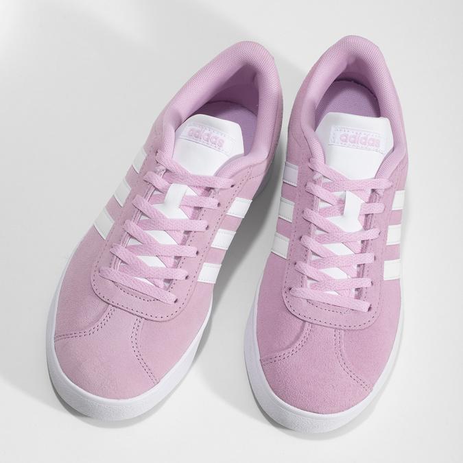 Dětské kožené tenisky růžové adidas, růžová, 403-5361 - 16