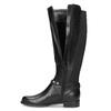 Vysoké kožené kozačky s kovovými cvoky bata, černá, 594-6669 - 17