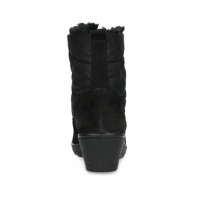 Černé dámské kotníčkové kozačky se zateplením comfit, černá, 699-6645 - 15