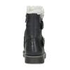 Dívčí kožené nízké kozačky s kožíškem mini-b, černá, 396-6601 - 15