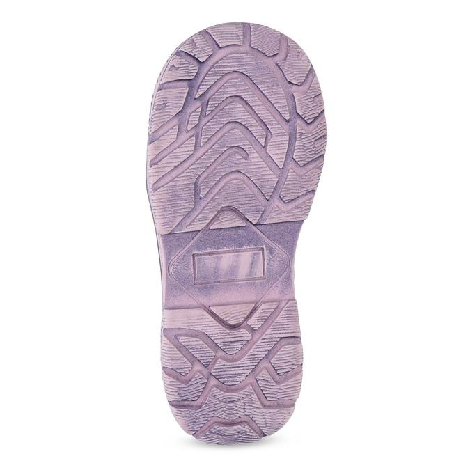 Dětská kožená kotníčková obuv s kožíškem mini-b, fialová, 296-9601 - 18