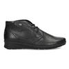 Kožená dámská kotníčková obuv comfit, černá, 594-6707 - 19