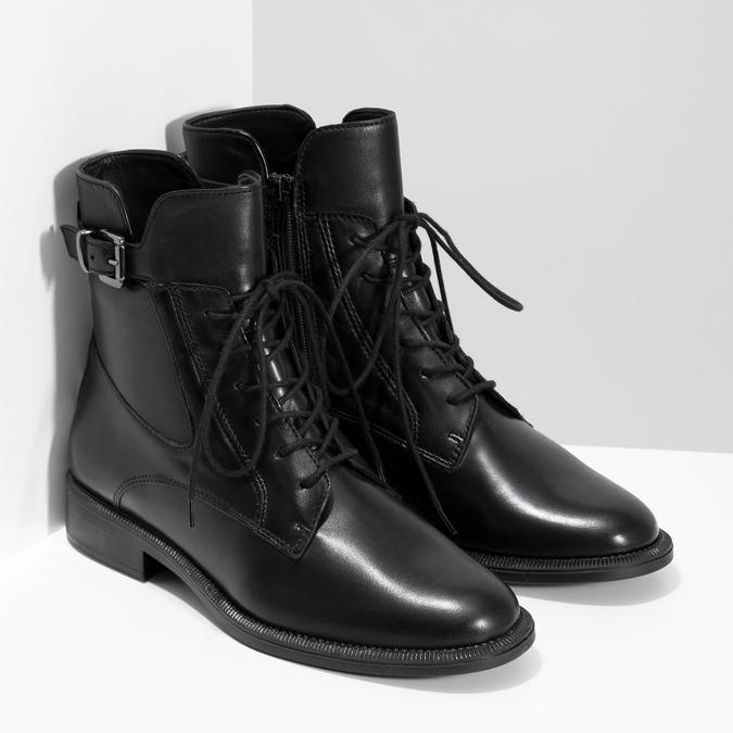 Zimní kotníčková obuv s přezkou bata, černá, 594-6674 - 26