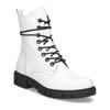 Dámská bílá kožená kotníčková obuv bata, bílá, 594-1709 - 13