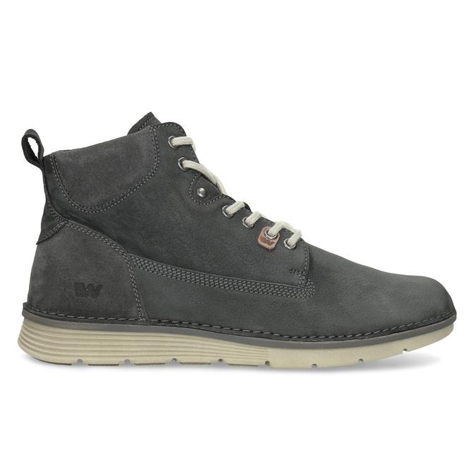 Kotníčková kožená pánská obuv s prošitím weinbrenner, šedá, 846-6719 - 19