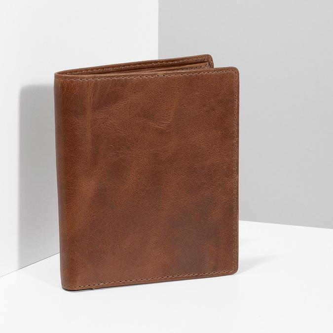 Hnědá kožená pánská peněženka bata, hnědá, 944-3217 - 17
