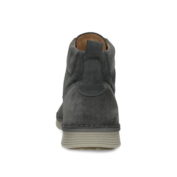 Kotníčková kožená pánská obuv s prošitím weinbrenner, černá, 846-6719 - 15