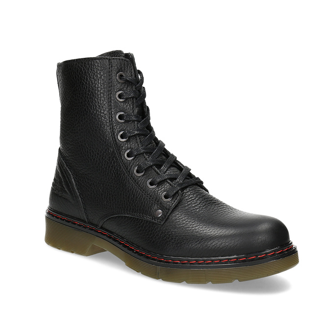Černá dámská kožená obuv v Chelsea stylu bata, černá, 596-6732 - 13