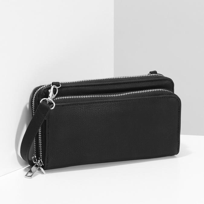 Dámská prostorná černá peněženka bata, černá, 941-6616 - 17