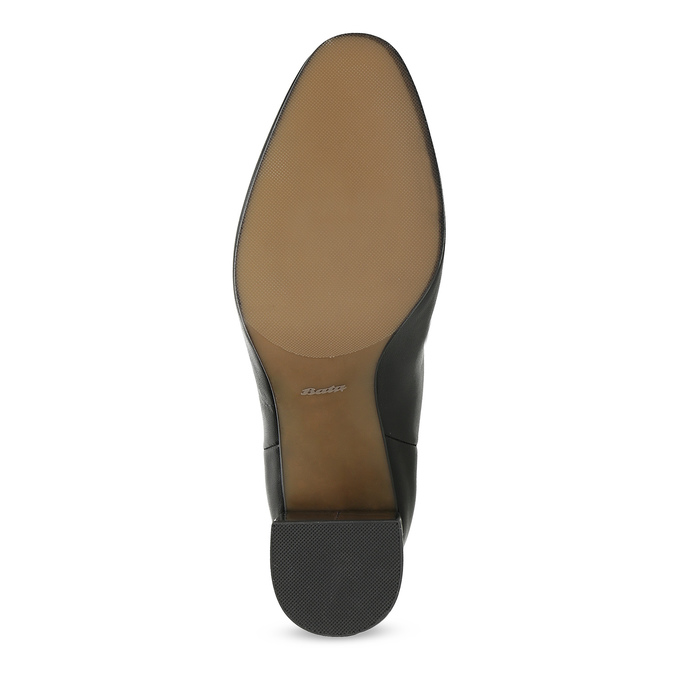 Kožené černé kozačky s metalickým podpatkem bata, černá, 796-6655 - 18