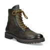Zimní vysoká kožená kotníčková obuv bata, šedá, 896-2737 - 13