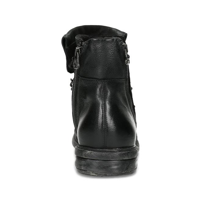 Kožená zimní pánská obuv bata, černá, 896-6744 - 15