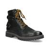 Zimní kožená pánská kotníčková obuv bata, černá, 896-6736 - 13