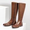 Hnědé kožené kozačky bata, hnědá, 594-4637 - 16