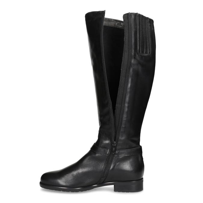 Kožené černé dámské kozačky bata, černá, 594-6676 - 17