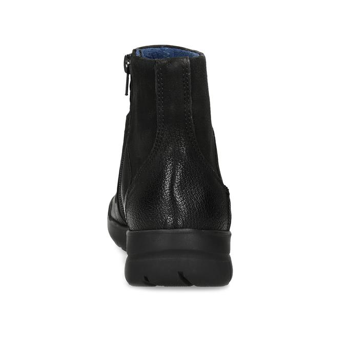 Kožená dámská kotníčková obuv bata, černá, 596-6706 - 15