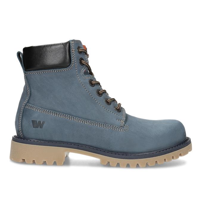 Modrá kožená dámská kotníčková obuv weinbrenner, modrá, 596-9728 - 19