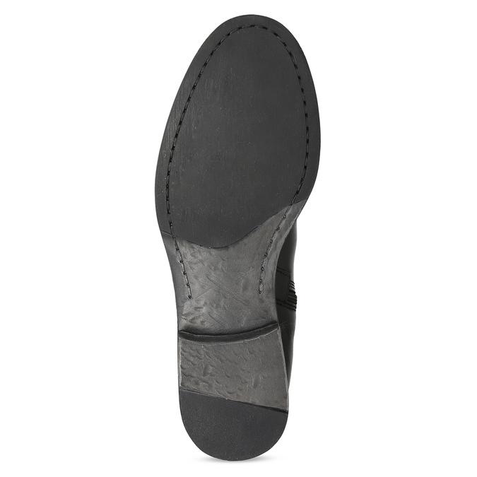 Kožené černé kozačky s přezkou bata, černá, 594-6678 - 18