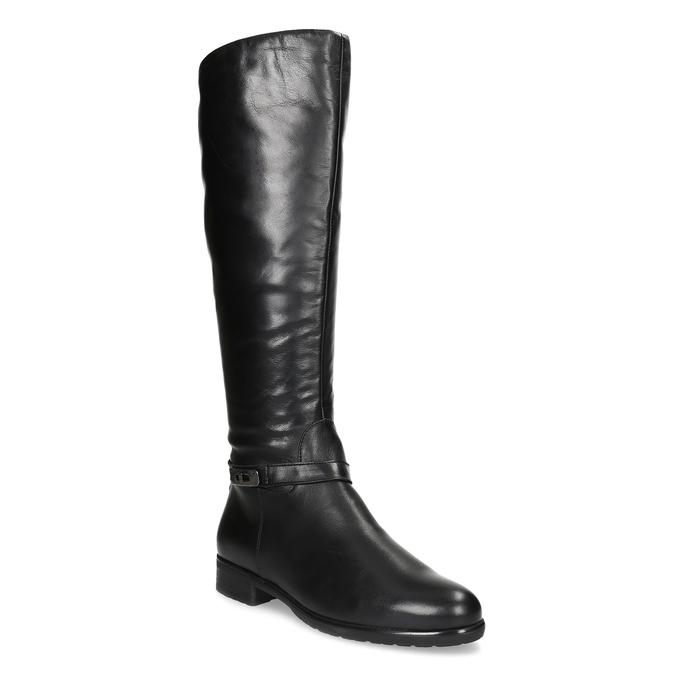 Kožené černé dámské kozačky bata, černá, 594-6676 - 13