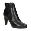 Kožená černá kotníčková obuv na podpatku bata, černá, 794-6656 - 13