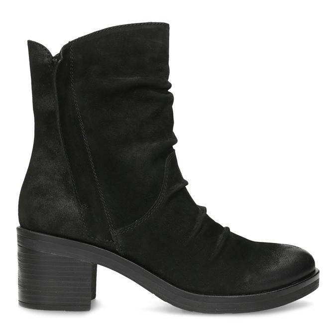 Nízké kožené kozačky černé bata, černá, 696-6659 - 19
