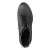 Dámská kožená kotníčková obuv se šněrováním bata, černá, 796-6653 - 17