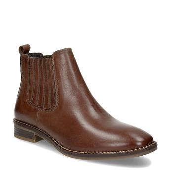 Kožená dámská obuv v Chelsea stylu bata, hnědá, 594-4682 - 13