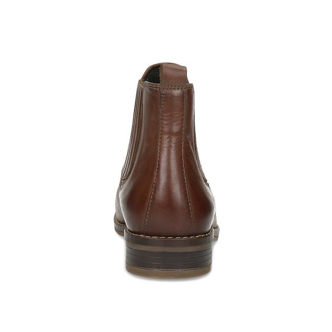 Kožená dámská obuv v Chelsea stylu bata, hnědá, 594-4682 - 15