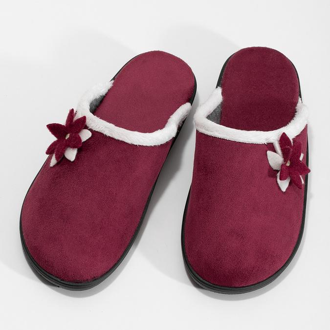 Dámské zateplené nazouváky červené bata, červená, 579-5632 - 16