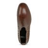 Kožená dámská obuv v Chelsea stylu bata, hnědá, 594-4682 - 17