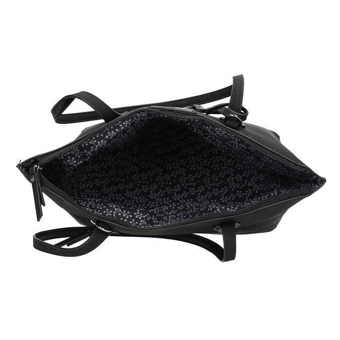 Černá kabelka s přívěskem gabor-bags, černá, 961-6044 - 15